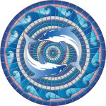 """59"""" Dolphins Mosaic"""