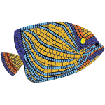 "Angelfish Mosaic - MED 59"" x 35"""