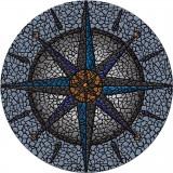 "Compass Mosaic 59"""