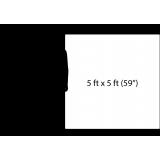 """Custom 59"""" x 59"""" Square Pool Floor Art on WHITE"""