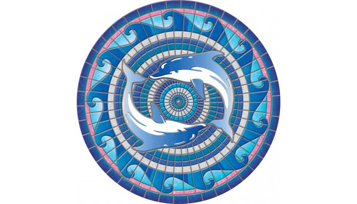 """Dolphins Mosaic 59"""""""
