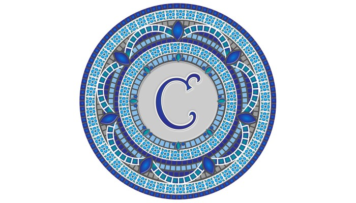 Monogram Mosaic: 59 in. C  (style 3)