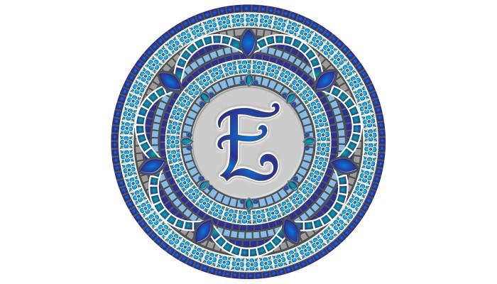 Monogram Mosaic: 59 in. E  (style 3)
