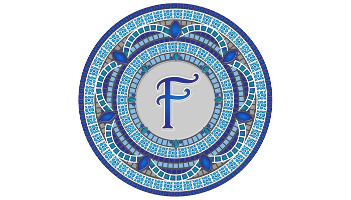 Monogram Mosaic: 59 in. F  (style 3)