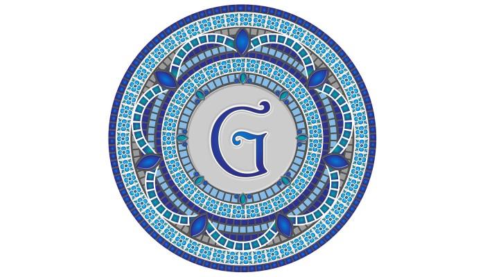 Monogram Mosaic: 59 in. G  (style 3)