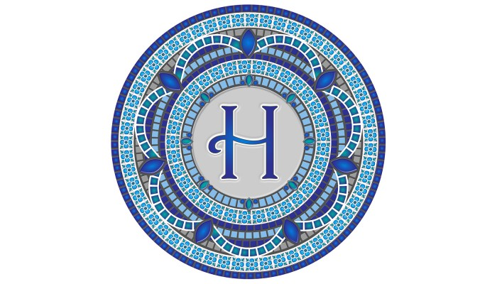 Monogram Mosaic: 59 in. H  (style 3)