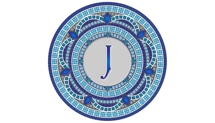 Monogram Mosaic: 59 in. J  (style 3)
