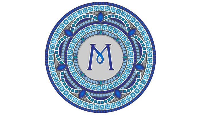 Monogram Mosaic: 59 in. M  (style 3)