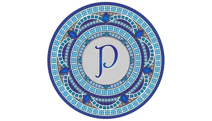 Monogram Mosaic: 59 in. P  (style 3)
