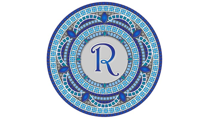 Monogram Mosaic: 59 in. R  (style 3)