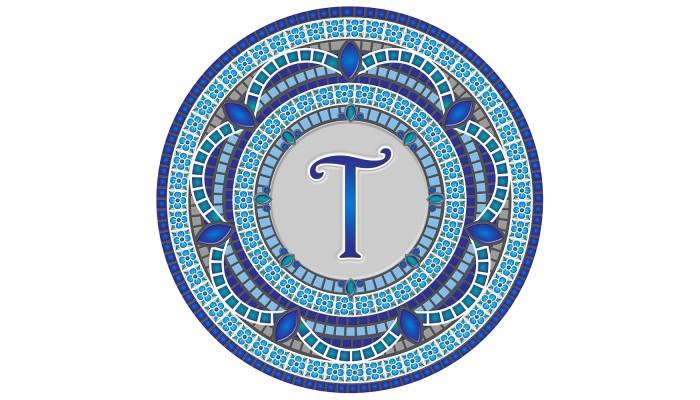 Monogram Mosaic: 59 in. T  (style 3)