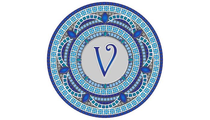 Monogram Mosaic: 59 in. V  (style 3)