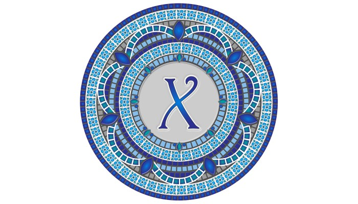 Monogram Mosaic: 59 in. X  (style 3)