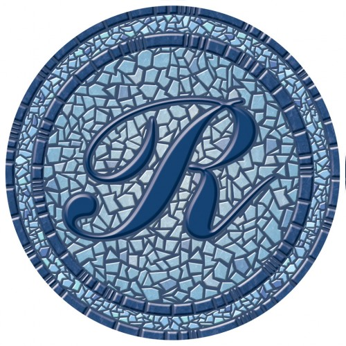 29 Quot Pool Monogram Mosaic By Poolsaic Pool Decals Non