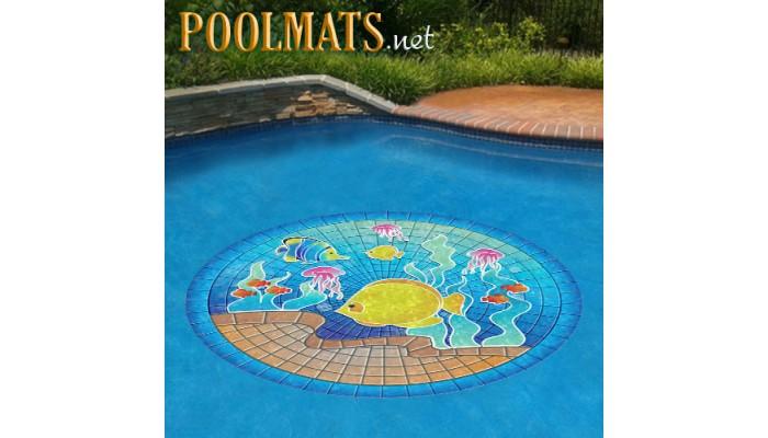 Tropical Fish Poolsaic Pool Medallion Xl Non Adhesive
