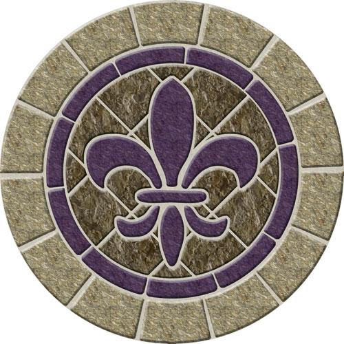 Fleur De Lis Stone Poolsaic Removable Pool Emblem