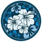 """Blue Hibiscus Mosaic - 59"""""""
