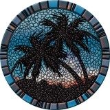 Blue Palm Trees - 59""