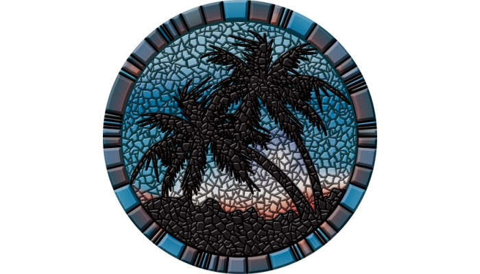 Blue Palm Trees - 29""