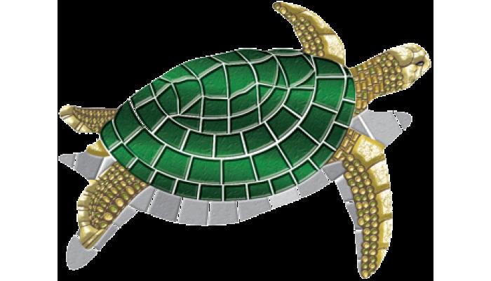 """Turtle Mosaic - LG 60"""" x 80"""""""